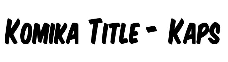 Komika Title - Kaps  Free Fonts Download