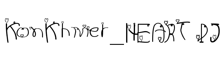 KonKhmer_HEART PJ  baixar fontes gratis