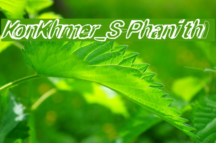 KonKhmer_S-Phanith1 Fonte examples