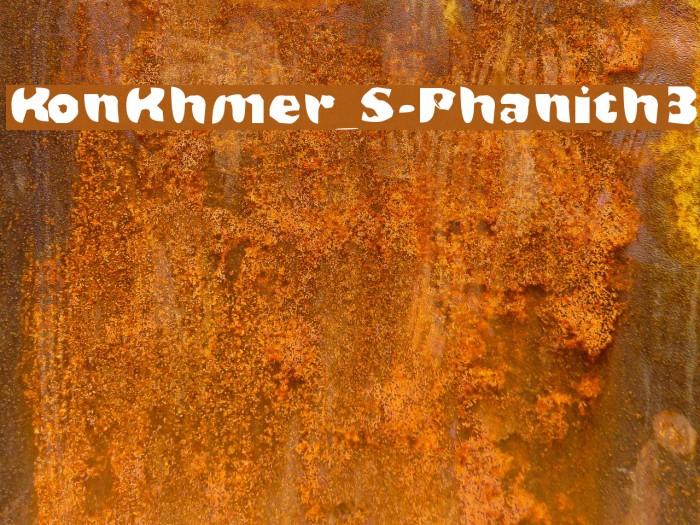 KonKhmer_S-Phanith3 Fonte examples