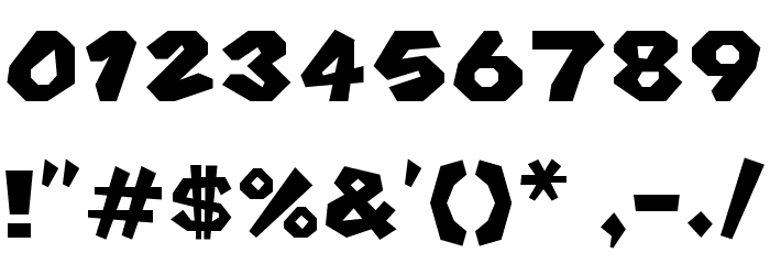 Koopa Kart 64 Regular Font OTHER CHARS