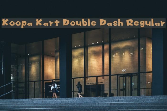 Koopa Kart Double Dash Regular Font examples