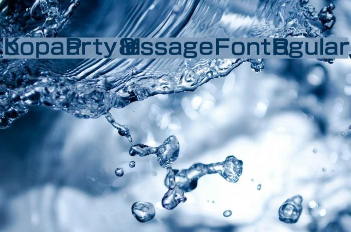Koopa Party 8 Message Font Regular फ़ॉन्ट examples