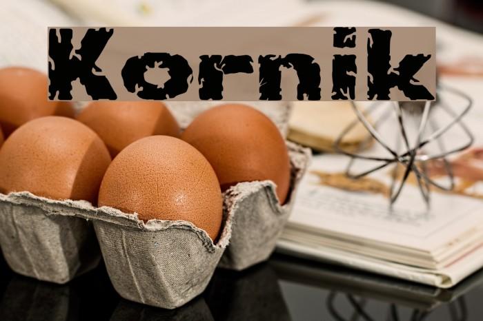 Kornik Font examples