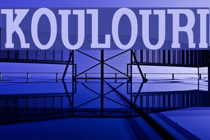 Koulouri 字体 examples