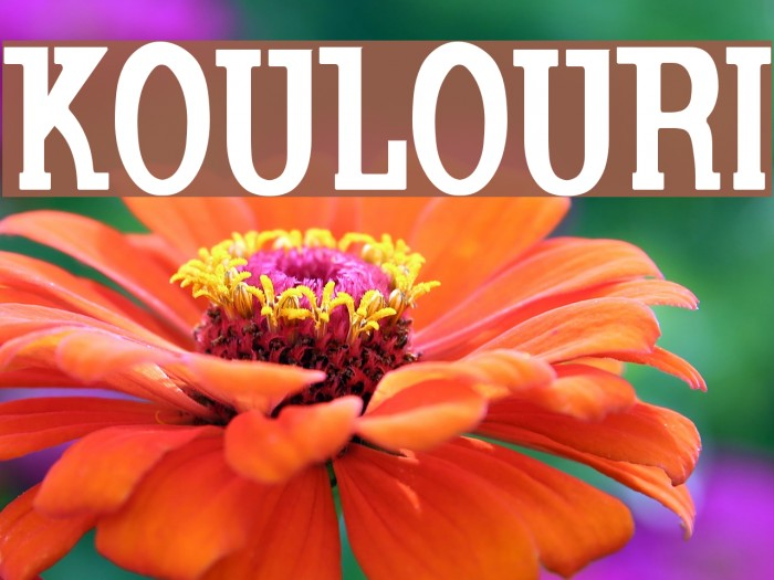 Koulouri Font examples