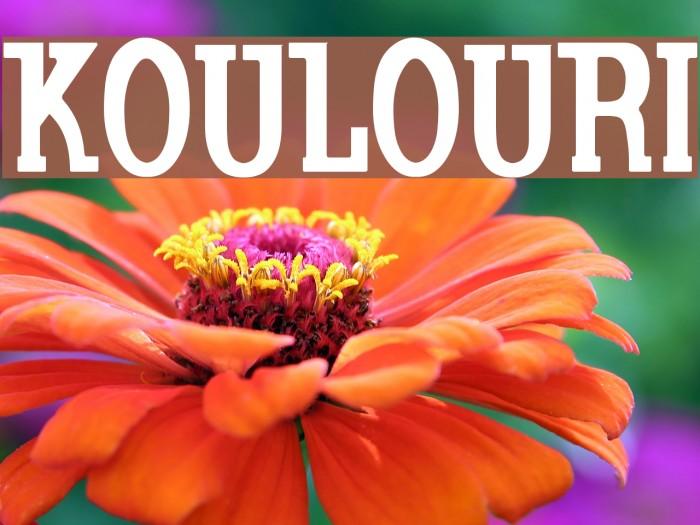 Koulouri फ़ॉन्ट examples