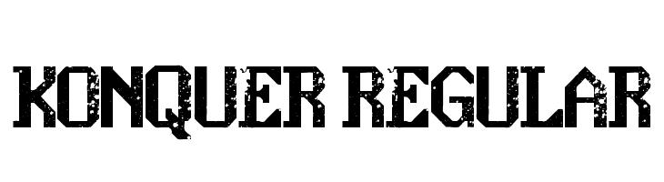 konquer Regular  नि: शुल्क फ़ॉन्ट्स डाउनलोड