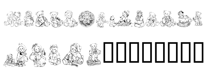 KR Adorable Teddies Font UPPERCASE