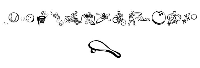 KR All Sport Font Litere mici