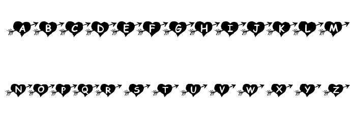 KR Arrow Heart Font OTHER CHARS