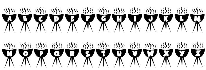 KR BBQ Font Litere mici