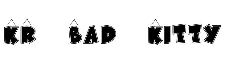 KR Bad Kitty  les polices de caractères gratuit télécharger