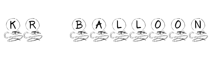 KR Balloon  Free Fonts Download