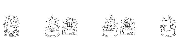 KR Birthday Cake! Dings  les polices de caractères gratuit télécharger