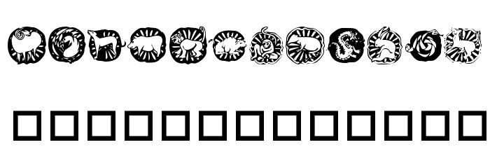 KR Chinese Zodiac Шрифта ВЕРХНИЙ