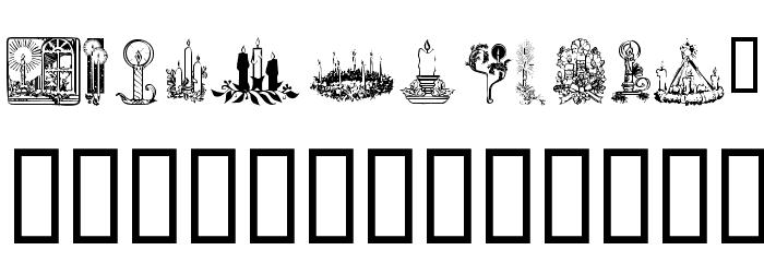 KR Christmas Candles Font Litere mici
