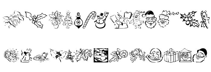 KR Christmas Dings 2004 Five Font Litere mari