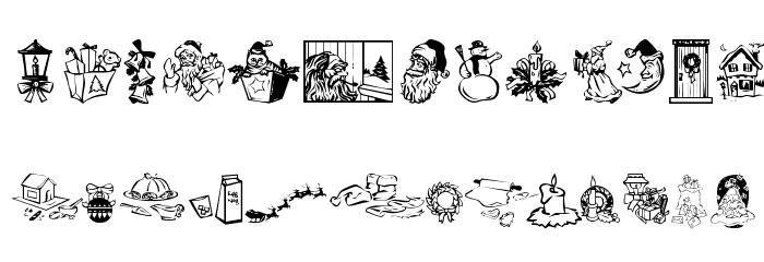 KR Christmas Dings 2004 Three Font Litere mari