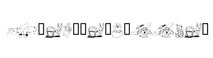 KR Easter Bunnies  नि: शुल्क फ़ॉन्ट्स डाउनलोड
