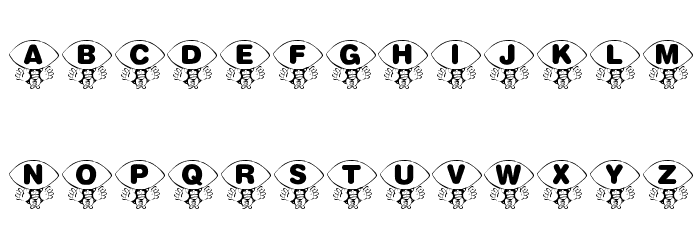 KR Foo'ball Font UPPERCASE