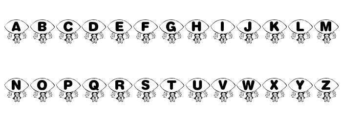 KR Foo'ball Font LOWERCASE