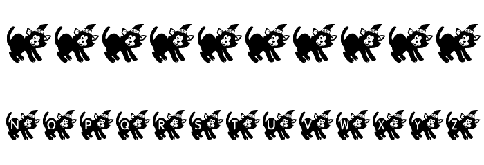 KR Halloween Kitten Font OTHER CHARS