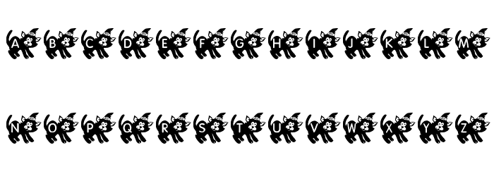 KR Halloween Kitten Font UPPERCASE