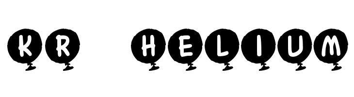 KR Helium Font