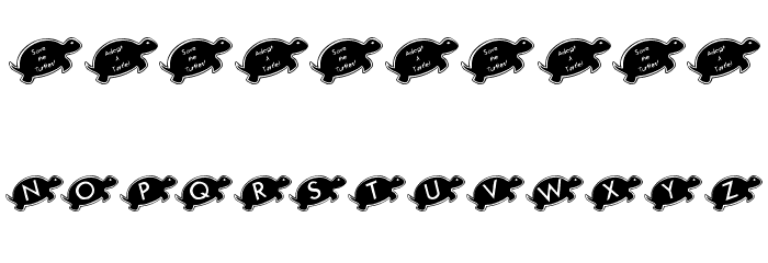 KR Julies Turtle Rescue Font OTHER CHARS