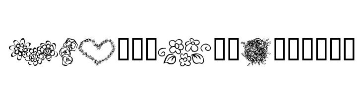 KR Just The Flowers  नि: शुल्क फ़ॉन्ट्स डाउनलोड