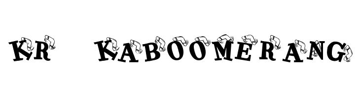 KR Kaboomerang Font