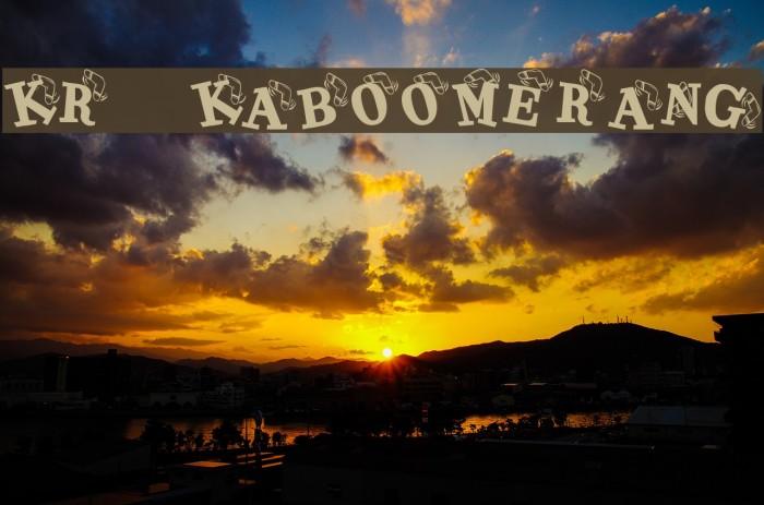 KR Kaboomerang Font examples