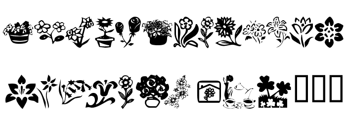 KR Kat's Flowers 4 Font OTHER CHARS