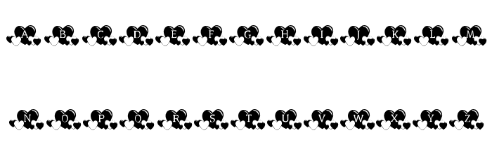 KR Lots Of Hearts Font UPPERCASE