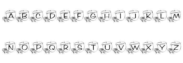 KR Nutsy! Font Litere mici