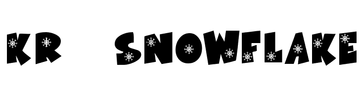 KR Snowflake  baixar fontes gratis