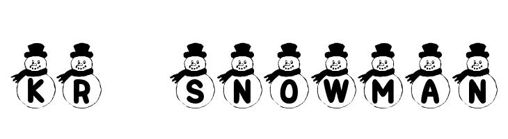 KR Snowman  フリーフォントのダウンロード