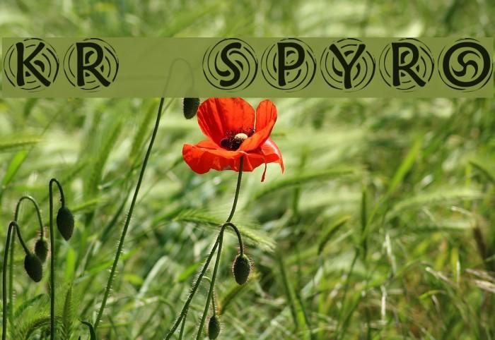 KR Spyro Font examples