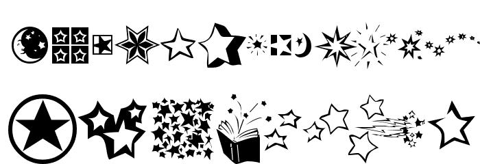 KR Star Struck Font UPPERCASE