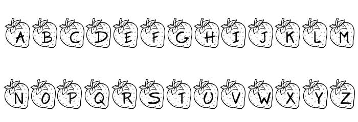 KR Strawberry Шрифта строчной