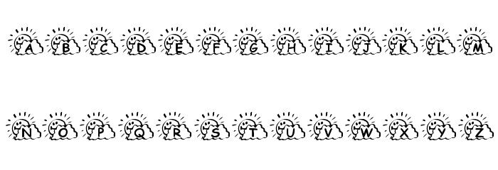 KR Sunny Days Font LOWERCASE