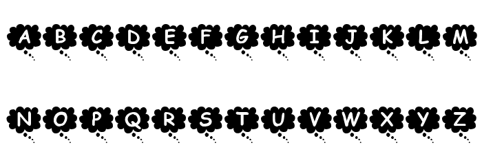 KR Thoughts Font UPPERCASE