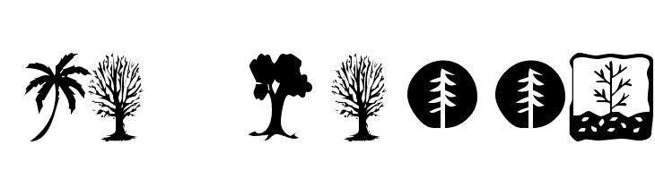 KR Trees  フリーフォントのダウンロード