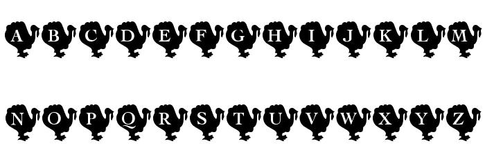 KR Turkey Time Font UPPERCASE