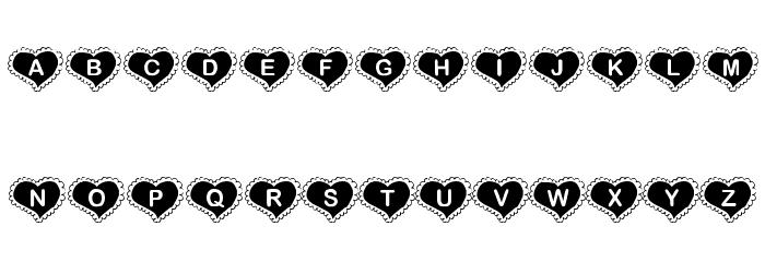 KR Valentine Heart Font UPPERCASE