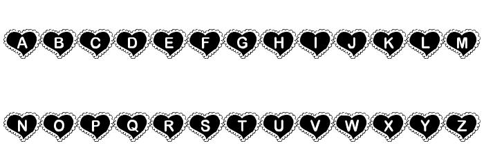 KR Valentine Heart Font LOWERCASE