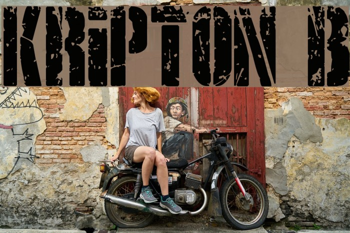 KRIPTON B Font examples