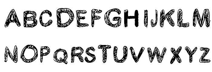 Kraboudja Font UPPERCASE