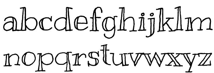 Kranky Font LOWERCASE